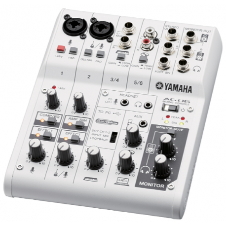 Table de mixage analogique yamaha ag06 a tours - Table de mixage yamaha usb ...