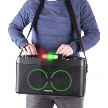 STATION DJ PORTABLE, DOUBLE BT/USB/MP3 - CDP800 VONYX
