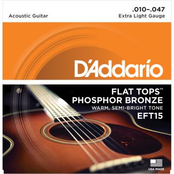 JEU DE CORDES DE GUITARE D'ADDARIO CDD EFT15