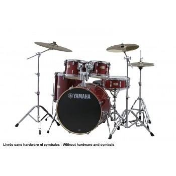 STAGE CUSTOM BIRCH FUSION CRANBERRY RED (SANS HARDWARE)YAMAHA 20""