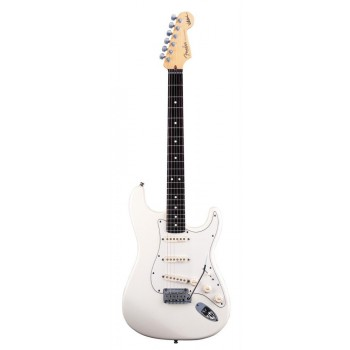 STRATOCASTER AMERICAN ARTIST SIGNATURE JEFF BECK OLYMPIC WHITE + ETUI