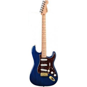 STRATOCASTER MEXICAN DELUXE PLAYERS SAPPHIRE BLUE TRANS + HOUSSE