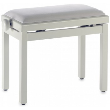 BANQUETTE CLAVIER PIANO STAGG BLANC MAT