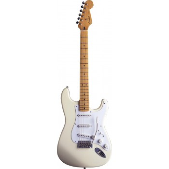 STRAT MEXICAN ARTIST  JIMMIE VAUGHAN OLYMPIC WHITE