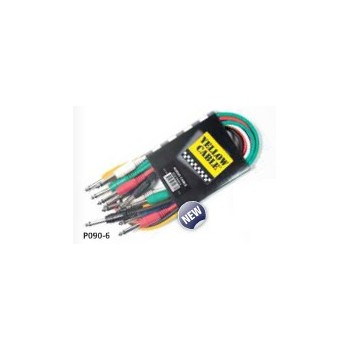 P060-6 6x CABLES DE PATCH COULEUR