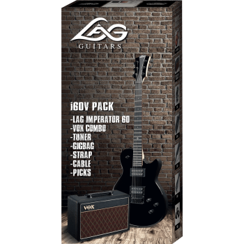 PACK GUITARE LAG PACKI60V-BLK