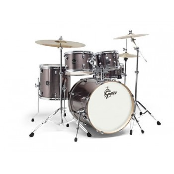 "NEW ENERGY FUSION 20"" WINE RED + CYMBALES PAISTE 101 GRETSCH"