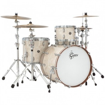 RENOWN MAPLE ROCK24 3FUTS SILVER OYSTER PEARL GRETSCH