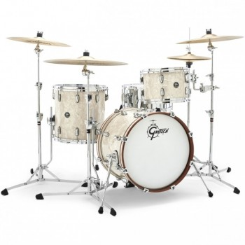 RENOWN MAPLE JAZZ18 3FUTS SILVER OYSTER PEARL GRETSCH