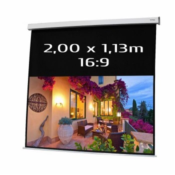 Ecran de projection électrique 2,00 x 1,13m, format 16:9