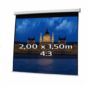 Ecran de projection électrique 2,00 x 1,50m, format 4:3