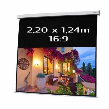 Ecran de projection électrique 2,20 x 1,24m, format 16:9