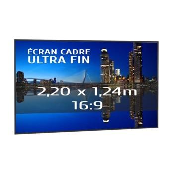 Ecran de projection sur cadre 2,20 x 1,24m, format 16:9, Série Slim