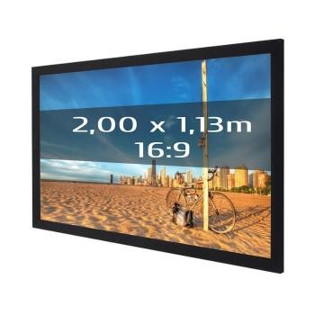Ecran de projection sur cadre 2,00 x 1,13m, format 16:9