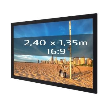 Ecran de projection sur cadre 2,40 x 1,35m, format 16:9
