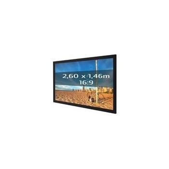 Ecran de projection sur cadre 2,60 x 1,46m, format 16:9