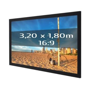 Ecran de projection sur cadre 3,20 x 1,80m, format 16:9