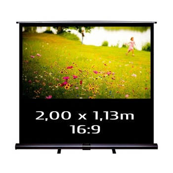 Ecran de projection transportable Pull Up 2,00 x 1,13m, format 16:9