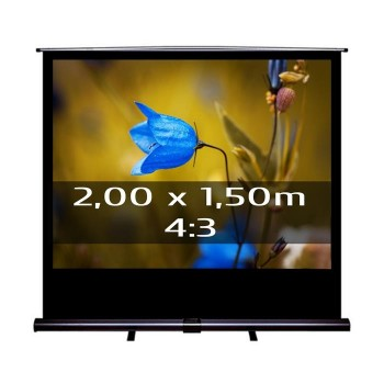 Ecran de projection transportable Pull Up 2,00 x 1,50m, format 4:3
