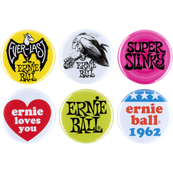6 BADGES ERNIE BALL