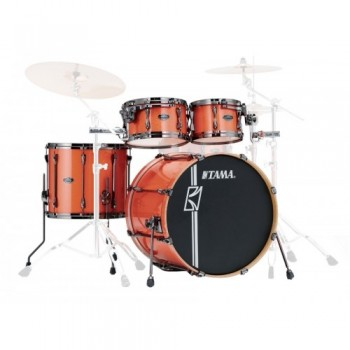 SUPERSTAR HD MAPLE 4PC BRUSHED CHARCOAL BLACK TAMA
