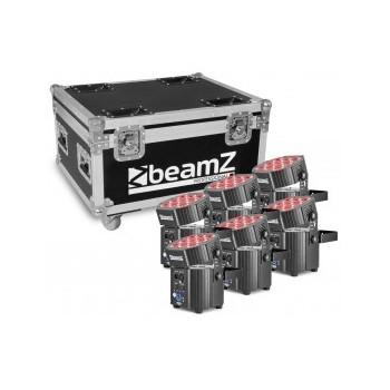 BBP60 Set 6 projecteurs, avec chargeur dans un flightcase