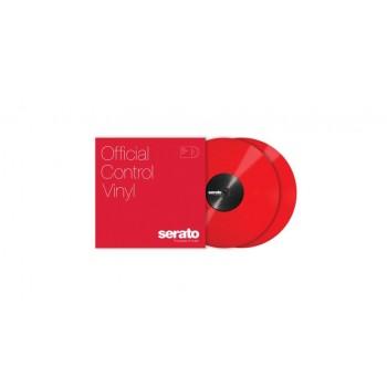RED 12P VINYL CONTROL TONE ROUGE, PAIRE SERATO