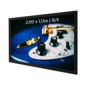 Ecran de projection sur cadre 2,00 x 1,13m, format 16:9, Toile Acoustique