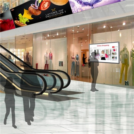 "Ecran mural tactile d´affichage dynamique 55"" 4K, Indoor"