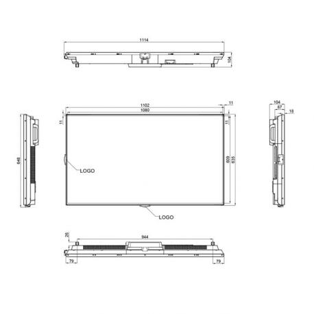 Ecran Professionnel Haute Luminosité 49´´, FULL HD, 700cd/m², 24h/7j