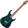 JOHN PETRUCCI JP15 FLAME MAPLE TEAL STERLING BY MUSIC MAN
