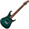 JOHN PETRUCCI JP15 7 FLAME MAPLE TEAL STERLING BY MUSIC MAN