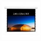 Ecran de projection motorisé encastrable tensionné 2,60x1,46m 16:9 Wi-Fi