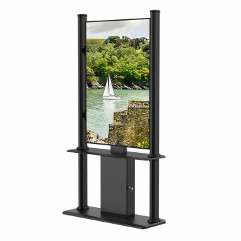 """Kiosque d´affichage dynamique 49"""" FULL HD 700cd/m² 24h/7j, Noir"""