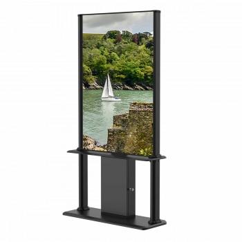 """Kiosque d´affichage dynamique 55"""" 700cd/m² FULL HD 24h/7j, Noir"""
