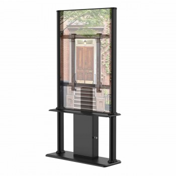 """Kiosque d´affichage dynamique 55"""" Très Haute Luminosité FULL HD 2500cd/m² 24h/7j, Noir"""